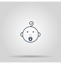 Baby icon concept for design vector image