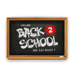 back to school design with school chalkboard and vector image
