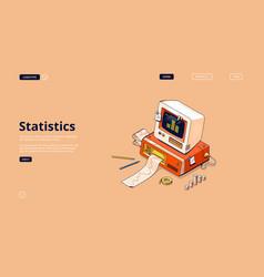banner statistics and data analysis vector image