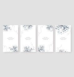 Beautiful social media stories background template vector