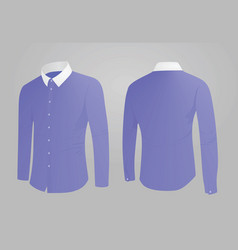 Blue shirt white collar vector