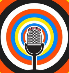 Broadcasting poster vector