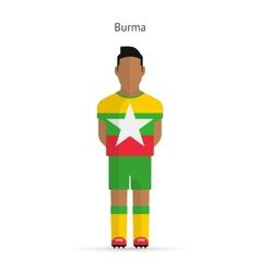 Burma football player Soccer uniform vector image
