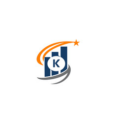 business success solutions initial k vector image