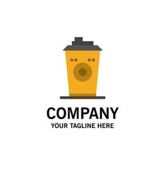 Coffee mug starbucks black coffee business logo vector