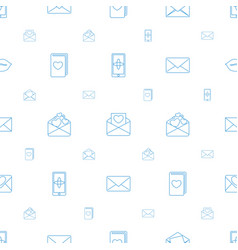 email icons pattern seamless white background vector image