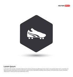 football boot icon hexa white background icon vector image
