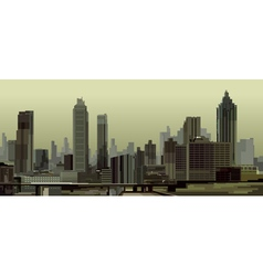 general view of the city with skyscrapers vector image vector image