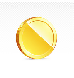 Gold Coin Isolated On Transparent In Different Vector Image