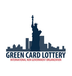 Green card lottery logo or emblem immigration and vector