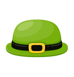 green hat for party holiday clothing accessory vector image