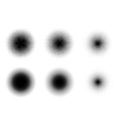 halftone texture grunge set background vector image