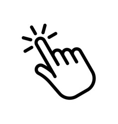 hand clicking icon vector image