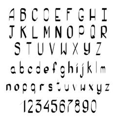 Hand Drawn Calligraphic Alphabet vector