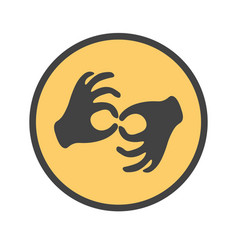 Hands showing the deaf gesture vector