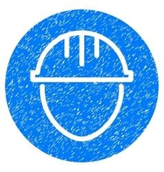 Helmet circle grainy texture icon vector