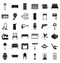 home icons set simple style vector image