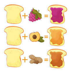 how make toast ingredients for classic tasty vector image