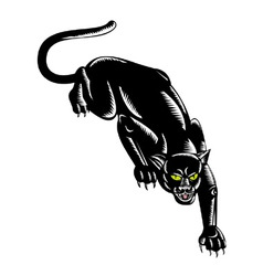 Jaguar prowling vector