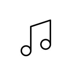 Line music note icon on white background vector
