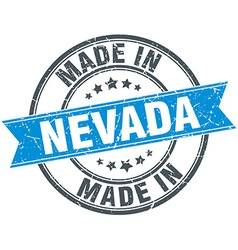 Made in Nevada blue round vintage stamp vector