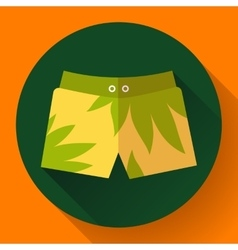 Man Beach Shorts icon Flat design style vector image
