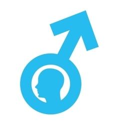 man male symbol silhpuette icon vector image