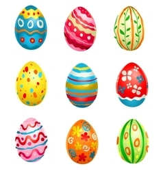 Painted eggs vector