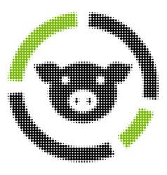 Pig diagram halftone icon vector