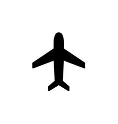 plane icon black on white vector image