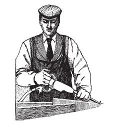 pneumatic chisel vintage vector image