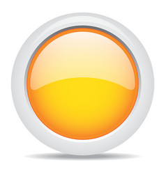 popular orange color web button 3d vector image