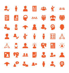 profile icons vector image