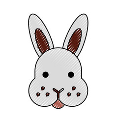 Rabbit head isolated icon vector