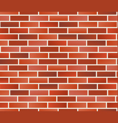 red brick wall seamless brick wall pattern vector image