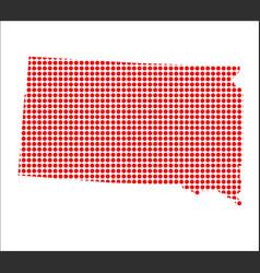 red dot map of south dakota vector image