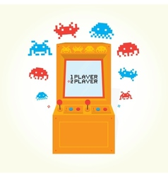 Retro arcade machine vector image
