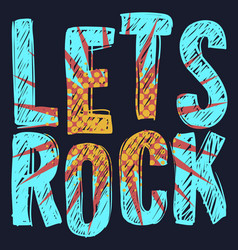 Rock type design with scribbled letter vector