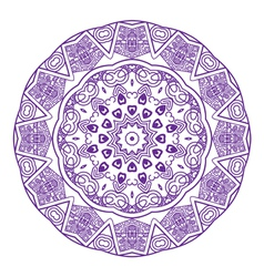 round ornament in violet color vector image