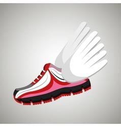 Running shoes design vector