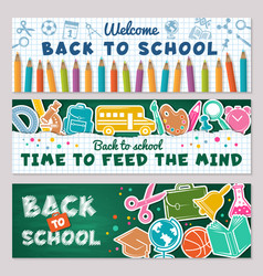 School banners for back vector