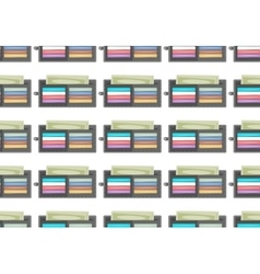 Seamless pattern purse vector image
