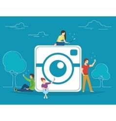 Self photo concept vector