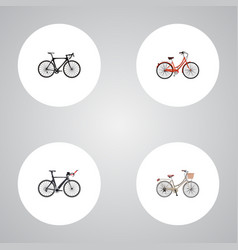 set of transport realistic symbols with road vector image