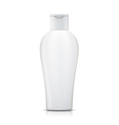 shampoo bottle white plastic bottle vector image
