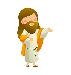 Side view of Jesus Christ smiling vector