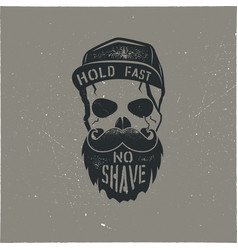 skull character with blood stains cap vintage vector image
