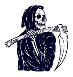 skull grim vector image
