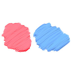 soft pink and blue thick acrylic watercolor paint vector image