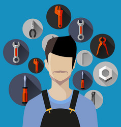 tool equipment icon vector image